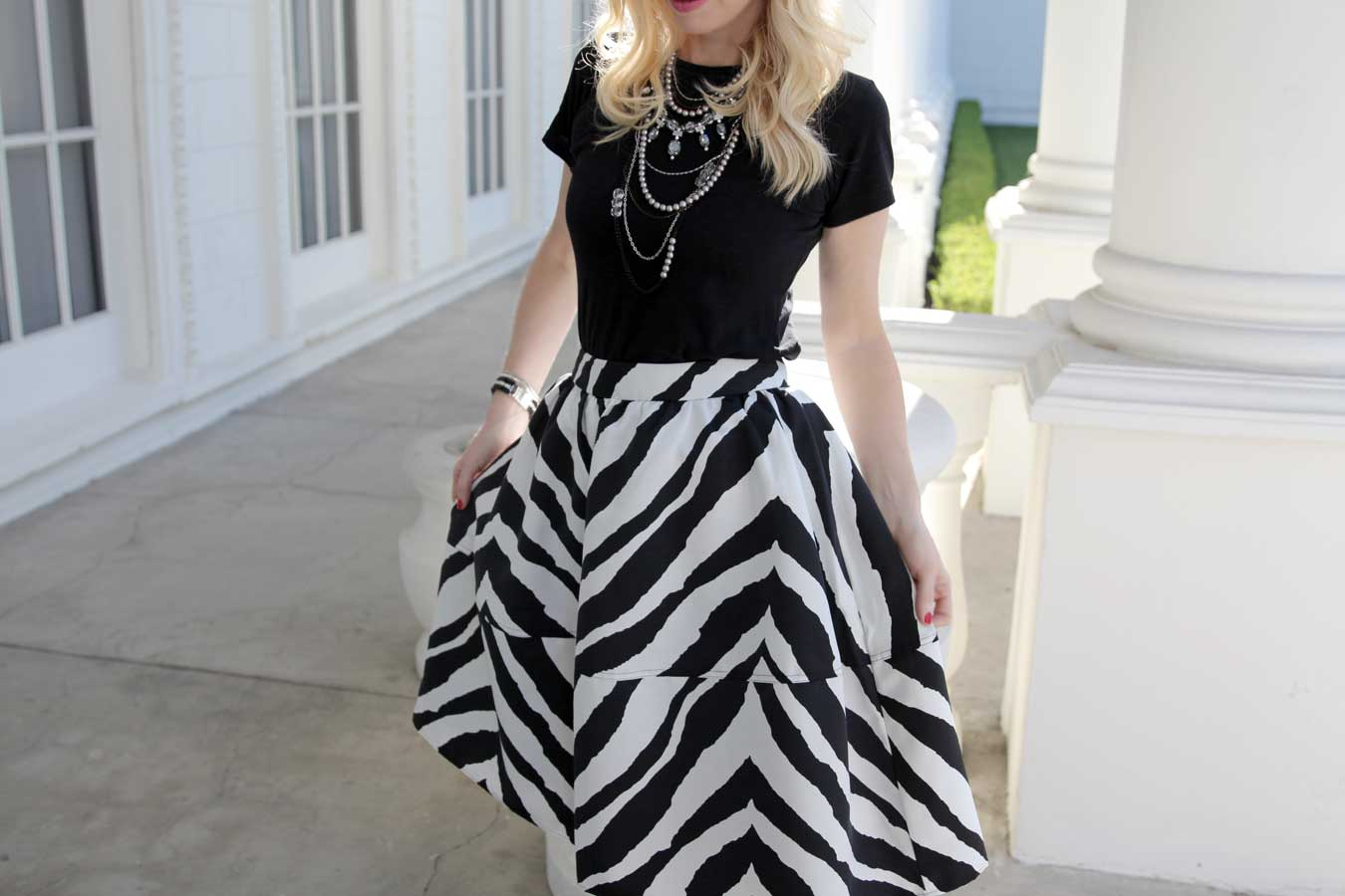 currently crushing, express zebra skirt