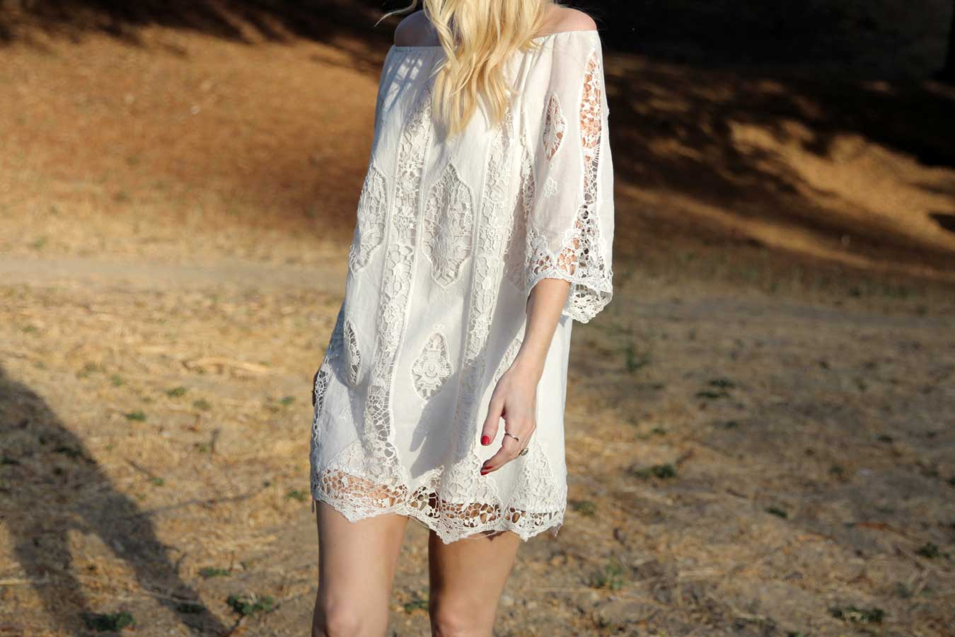 currently crushing, staring at stars crochet dress