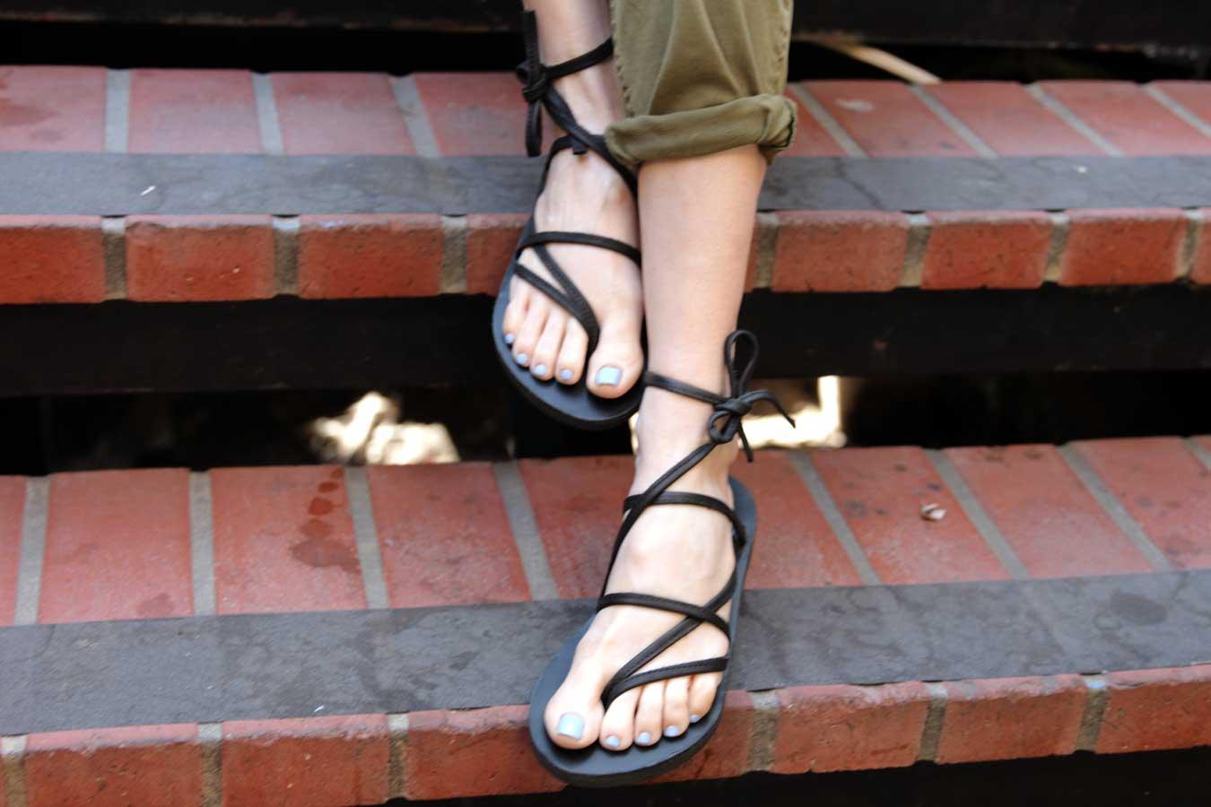 currently crushing, sseko sandals