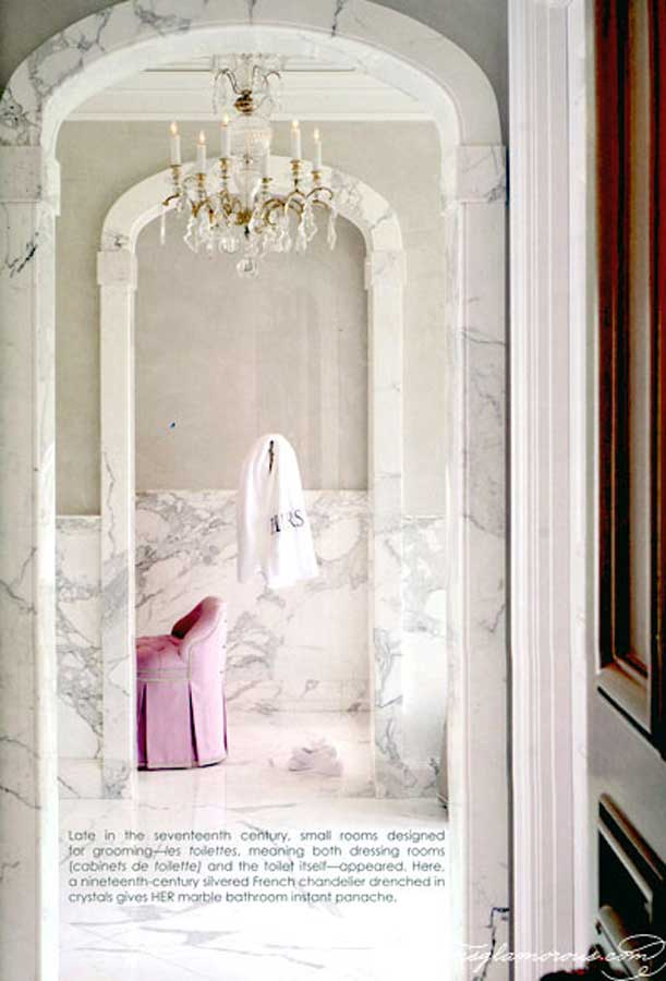 currently crushing, carrera marble bath
