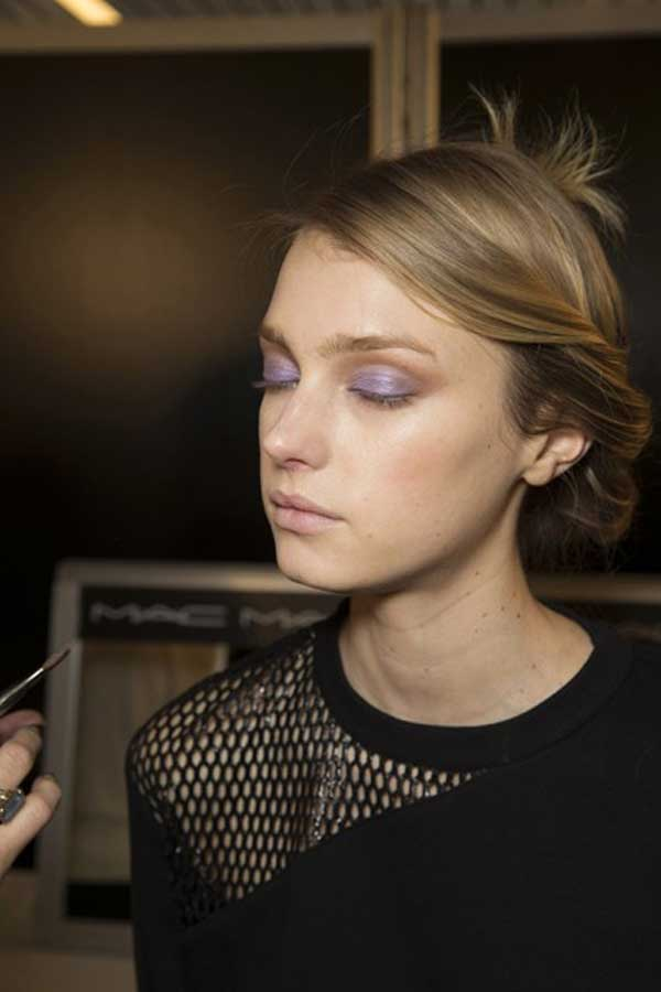 currently crushing, backstage makeup chloe paris fall 2014 rtw paris
