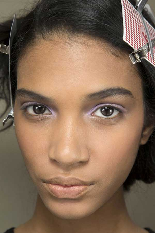currently crushing, backstage makeup chloe paris fall 2014 runway