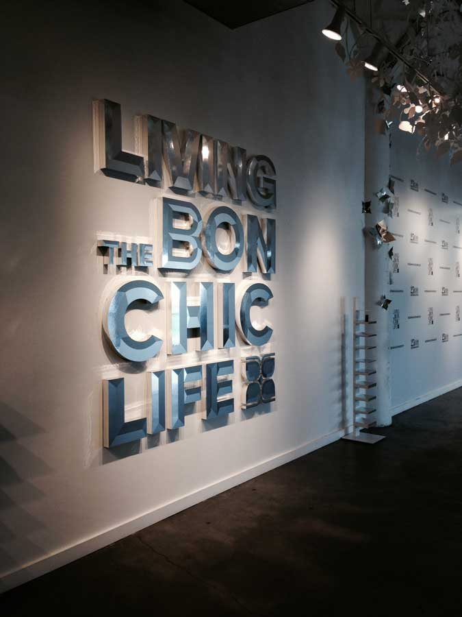 currently crushing bcbg bon chic life exhibit with lubov azria