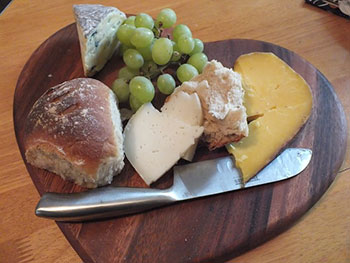 Goat Cheese, Grape, and Honey Toasts