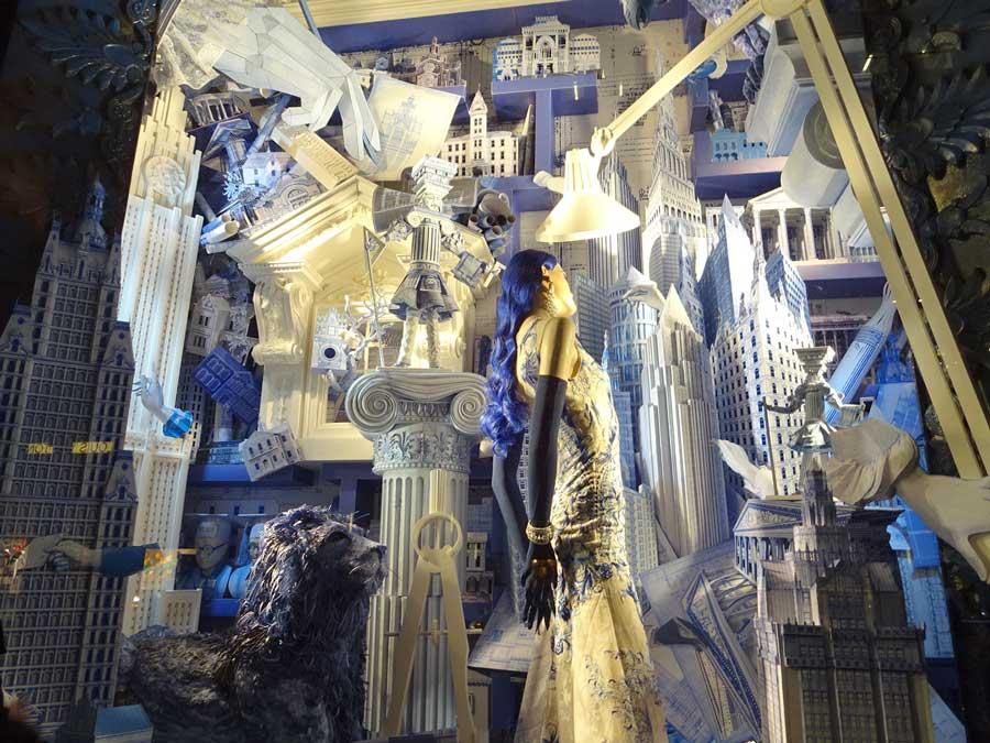 Christmas display windows in NYC