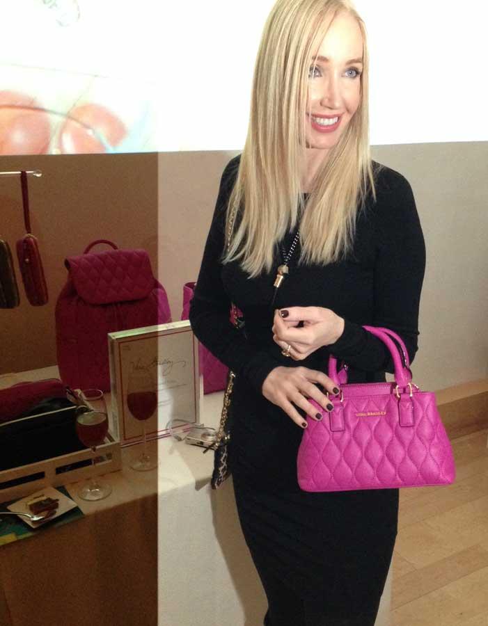 currently crushing, vera bradley pink leather mini satchel