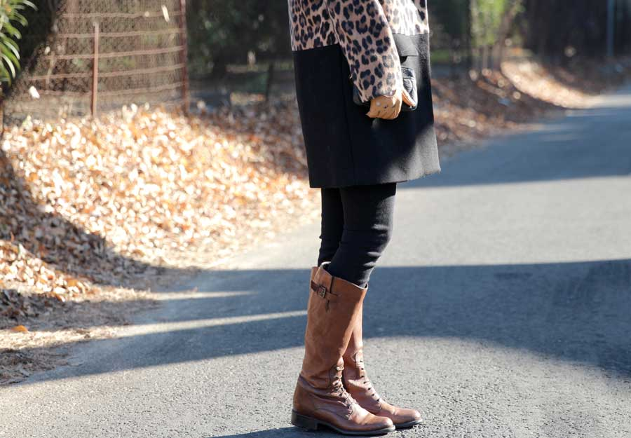 brown clark boots for women