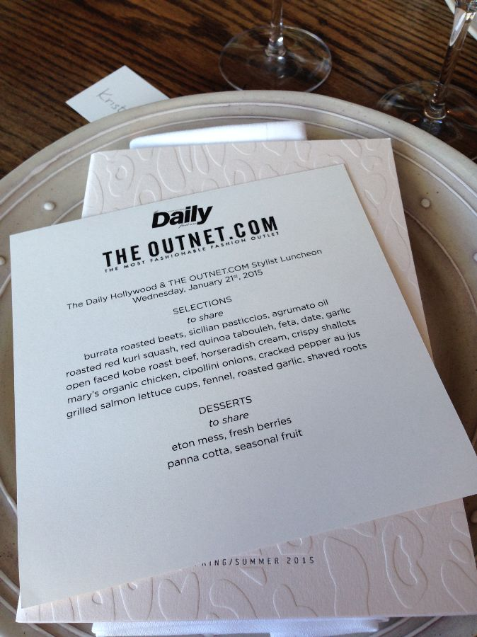outnet.com daily hollywood luncheon