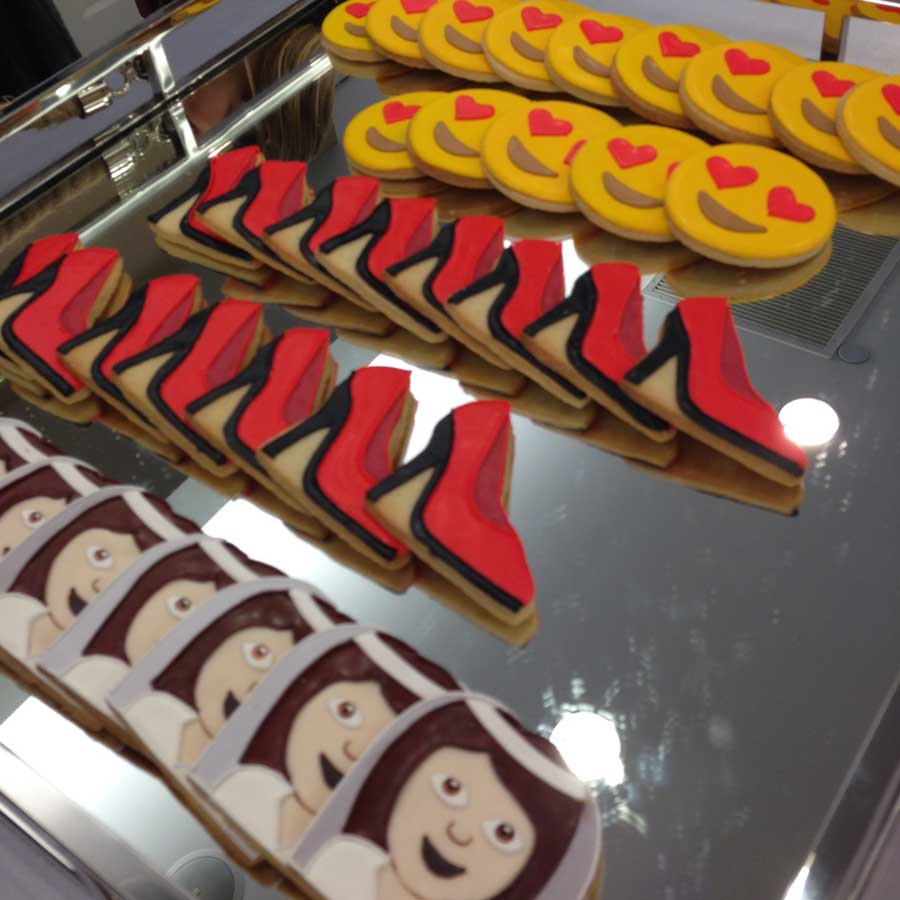 emoji cookies at Kleinfeld bridal nyfw