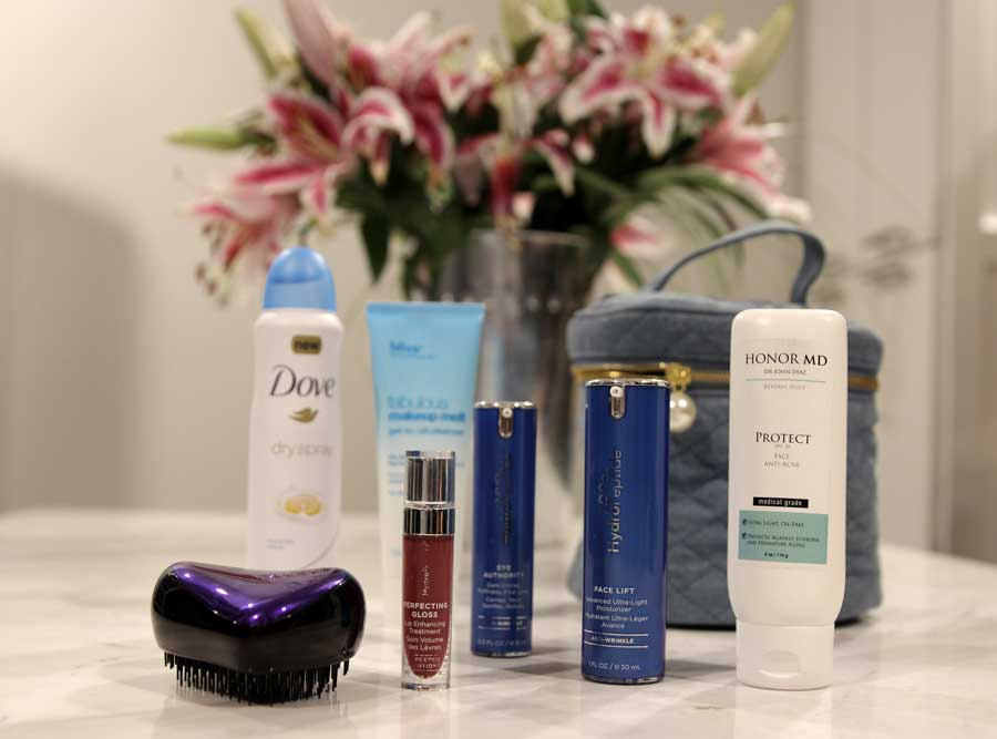 dove dry spray, bliss spa, hydro peptide, tangle tamer, dr john diaz honor MD, currentlyl crushing