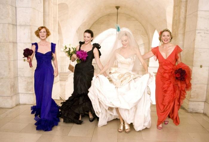 carrie bradshaw wedding pictures