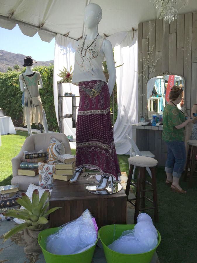 tinker bell lounge at the pandora experience at the Parker palm spings coachella weekend