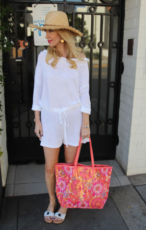 vera bradley summer sparkle tote pixie blooms, dr scholls original sandal, sabo skirt white romper playsuit, baroni jewelry