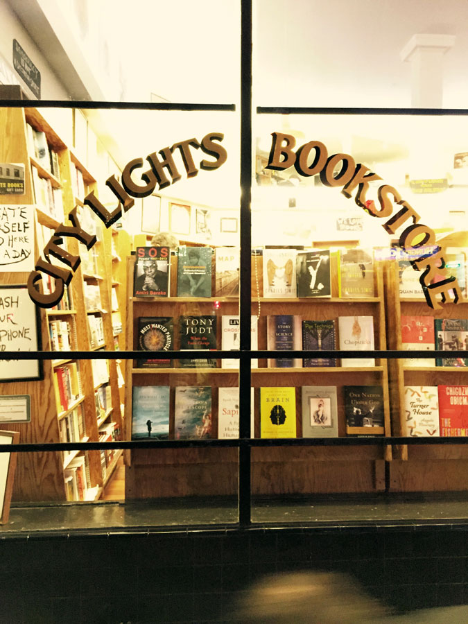 city lights bookstore san francisco, currently crushing, jack kerouac