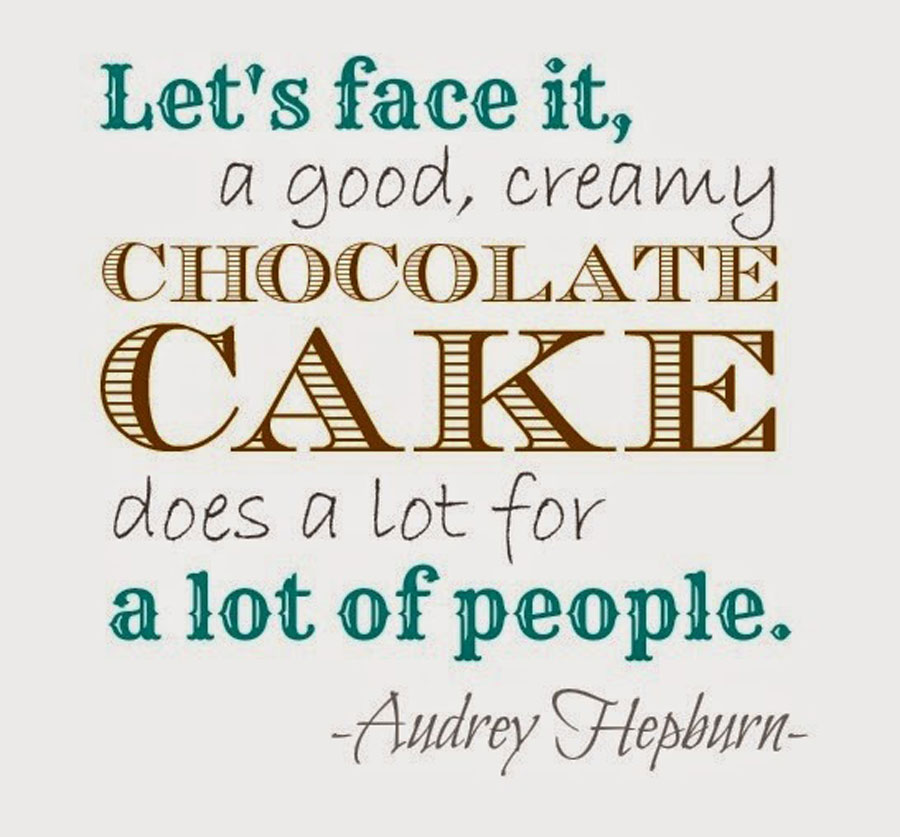 Cake Pic With Quotes : Audrey Hepburn s Flourless Chocolate cake recipe ...