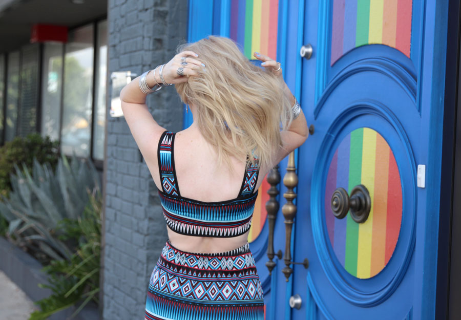 currently crushing, funky flair boutique tribal maxi