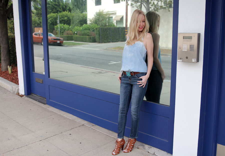 currently crushing, bella dahl, target jeans, BCBGeneration heels, vintage turqoise belt