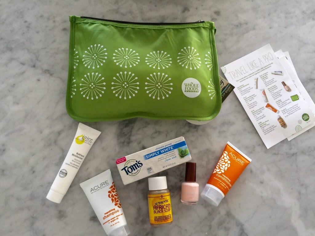 currently crushing, whole foods beauty, travel kit