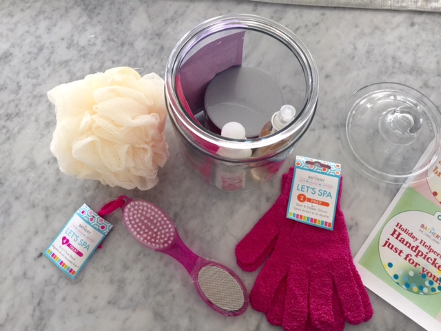 currently crushing, target the bathery, holiday Spa inspired DIY gift