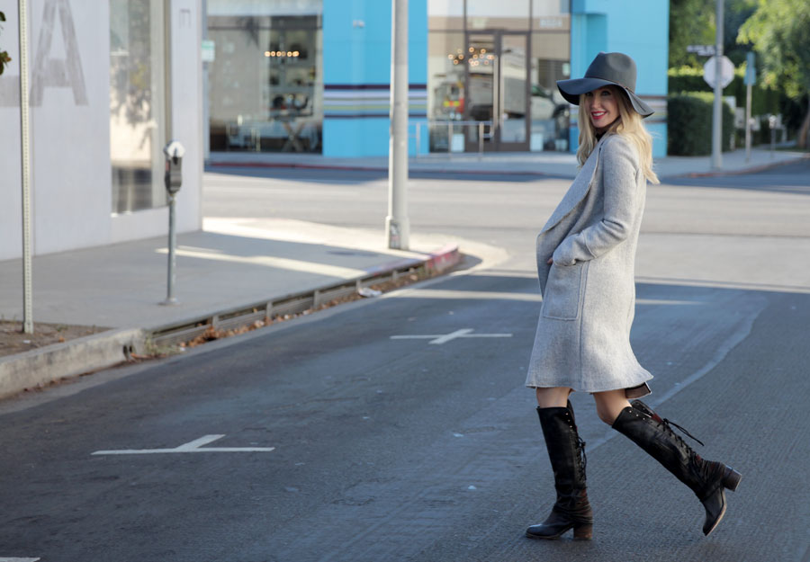 currently crushing, freebird boots, peter grimm hat, zara dress, zara sweater coat, pandora rings