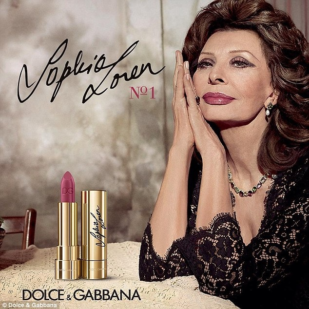 currently crushing, sophia loren lipstick dolce and gabbana