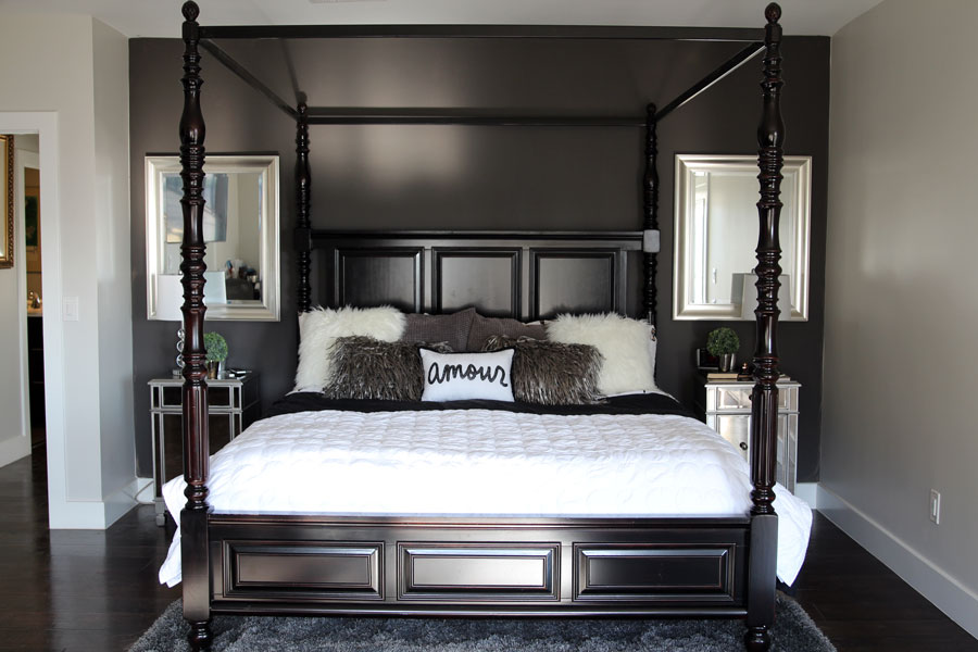 currently crushing, bedroom makeover. living spaces four poster bed