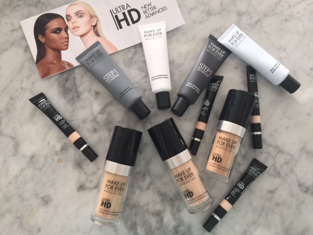 make up for ever HD foundation, currently crushing, HD primer, Ultra HD concealer make up for ever review