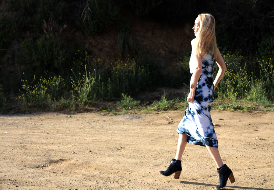 currently crushing, spiritual gangster maxi dress, sole society navy blue booties, samantha wills jewelry