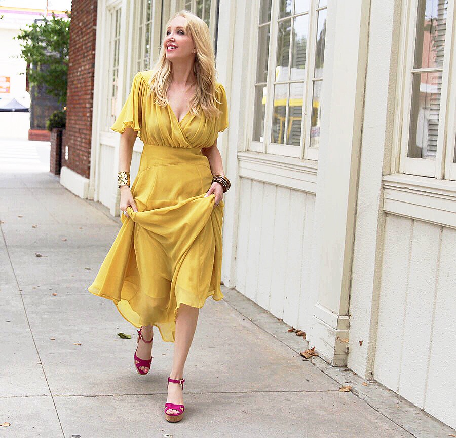 currently crushing, shellys of london platforms, asos yellow maxi dress