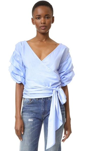 currently crushing, side tie tops, wrap tops, side tie wrap tops, nordstrom sale