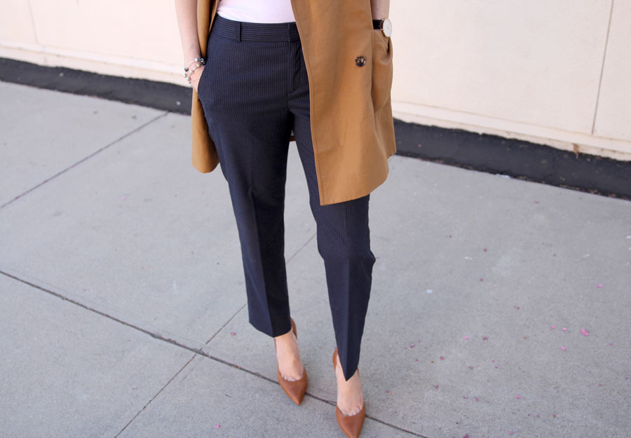 currently crushing, banana republic short trench coat, avery pants banana republic, #yourlifestyled #itsbanana