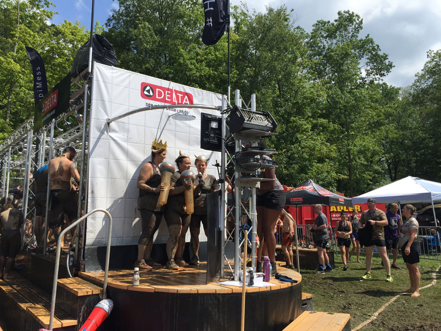 warriror dash clays water park ohio, delta shower karaoke warrior dash, currently crushing