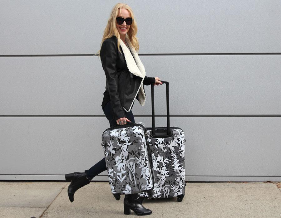 currently crushing, vera bradley luggage, bb dakota shearling jacket, urban outfiters vegan leather jacket