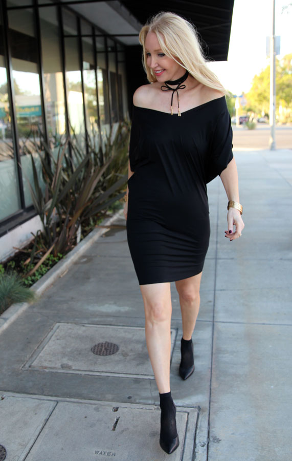 currently crushing, wolford dress, wolford legwear, bauble bar choker necklace