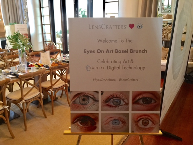 lenscrafters clarifye digital technology, miami art basel, brunch,