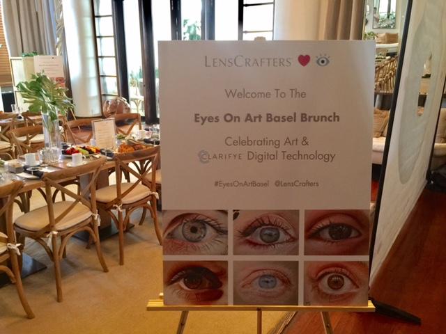 lenscrafters clarifye digital technology, miami art basel, brunch,