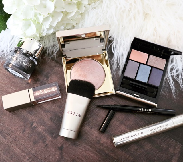 stila cosmetics, space.nk apothecary kevyn aucoin mascara eyeshadow, stila heavens hue highlighter, nordstrom cosmetics