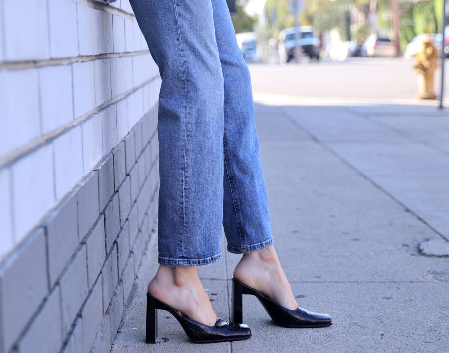 currently crushing, bebe shoes, square toe mules, square toe heels, betty and veronica clothing