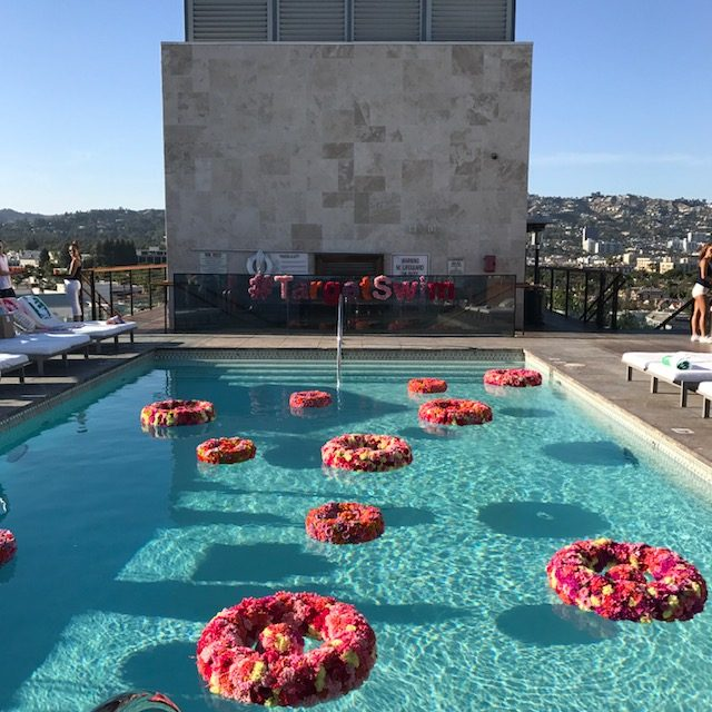 target style, target swim, target swim pool party in LA, target 2017 summer swimwear party, currently crushing