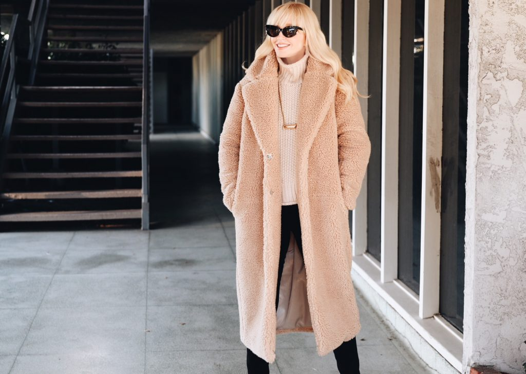 currently crushing, H&M coat, best teddy bear coat, cutest teddy bear coat