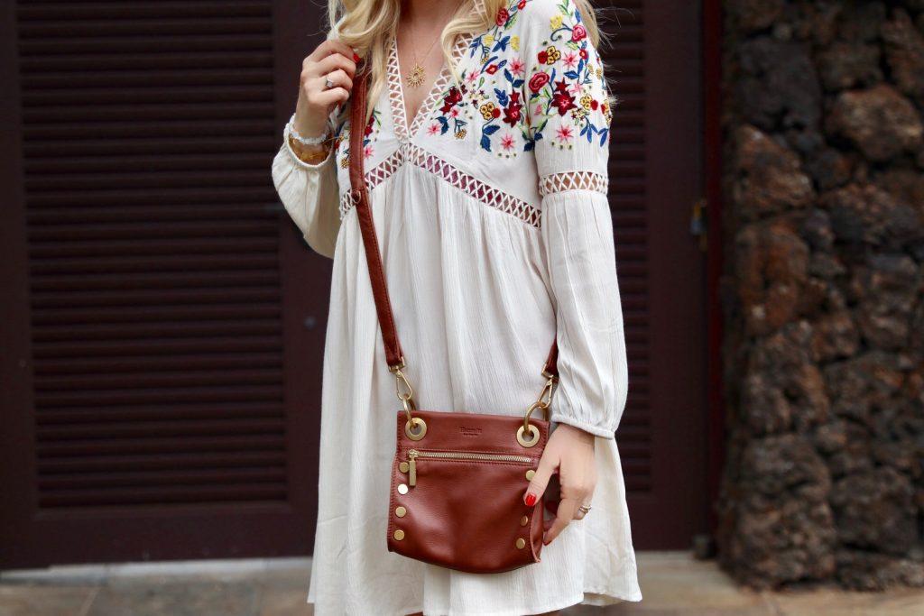 boston proper dress, bernardo sandals, blanc and eclare sunnies, hammit la purse, kahala coffee in waimea
