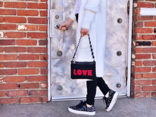 currently crushing, venice beach, willow and clay, kendall and kylie sneakers, mim and ray love purse