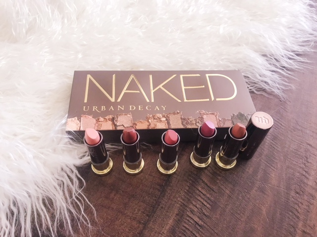 currently crushing, urban decay naked palette, urban decay vice lipstick nudes collection, urban decay at nordstrom