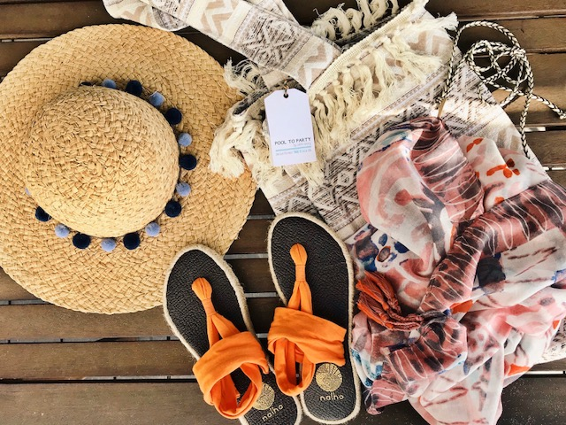currently crushing, subtle luxury pool to party, Giveaway, nahloa yoga mat sandals