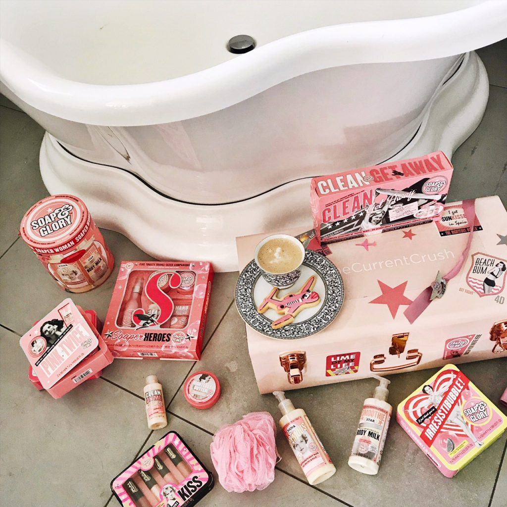 currently crushing, soap and glory,