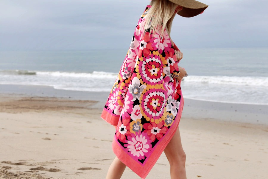 currently crushing, skin cancer awareness, vera bradley beach towels, sun safety, malibu beach