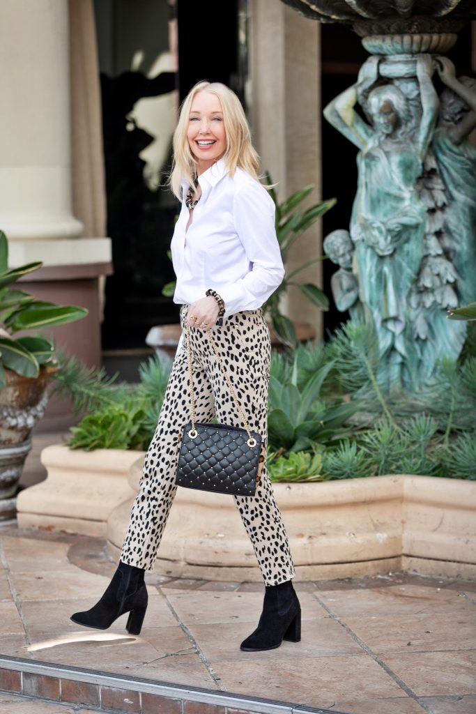 currently crushing, chico's animal print pants, chico's sale, chicos fall styles