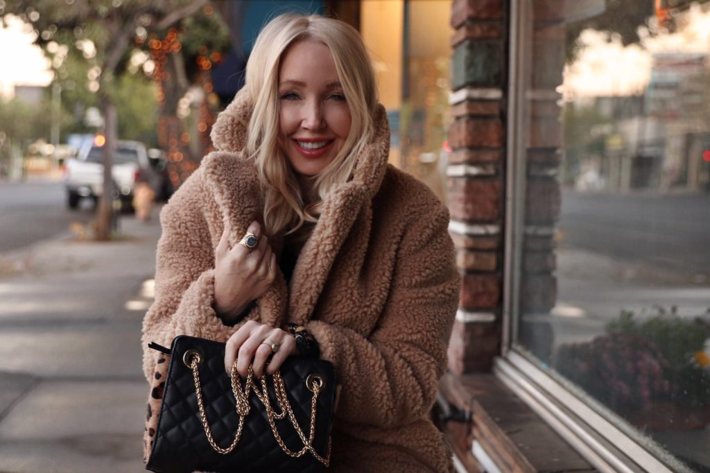currently crushing, cutest teddy bear coats, chicos handbags, fall styles, vince camutto boots
